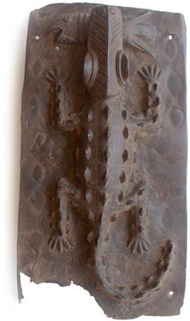 Reliefplatte Krokodil
