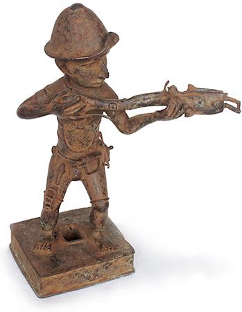 Portugiese - Schütze. Benin-Kultur